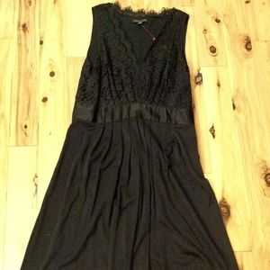 Like new Banana Republic black lace dress, sz 14